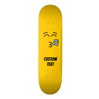 Whistling Face with Smiling Eyes Skateboard