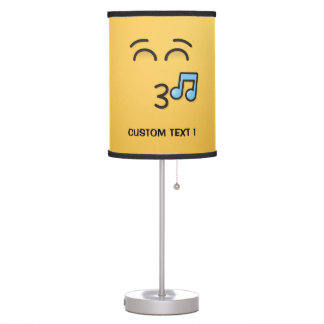 Whistling Face with Smiling Eyes Table Lamp