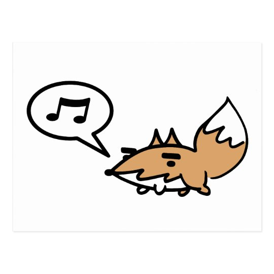 Whistling Fox Postcard