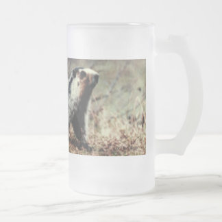 Whistling Marmot Frosted Glass Beer Mug