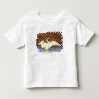 Whistling swan or tundra swan, stretching its toddler t-shirt