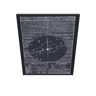 Whiston's Broadsheet Prediction of 1715 Comet Canvas Print