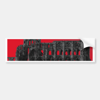 Whitby Abbey Car Bumper Sticker