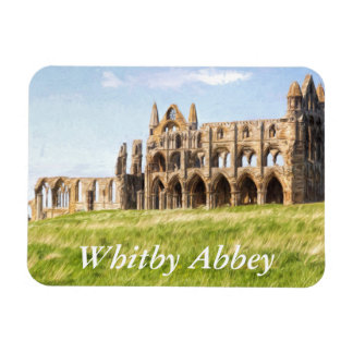 Whitby Abbey painting Rectangular Photo Magnet