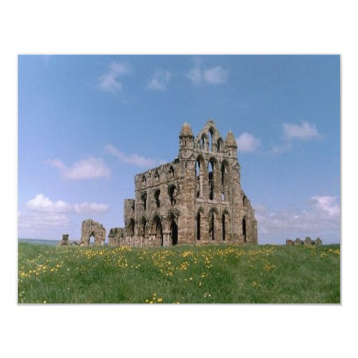 Whitby Abey 4.25x5.5 Paper Invitation Card