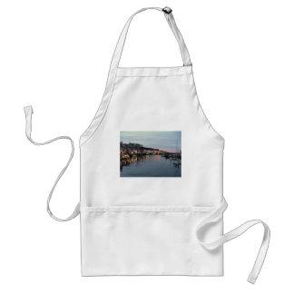 Whitby at dusk adult apron