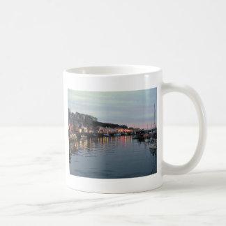 Whitby at dusk coffee mug