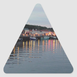 Whitby at dusk triangle sticker