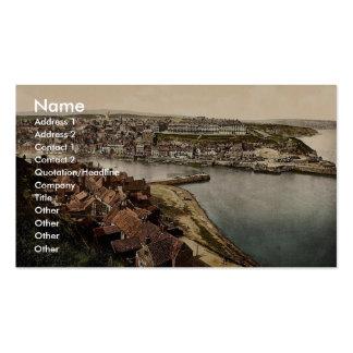 Whitby, del acantilado del este, Yorkshire, Inglat Tarjetas De Negocios