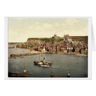 Whitby, del acantilado del oeste, Yorkshire, Ingla Tarjeta De Felicitación