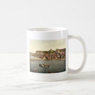 Whitby, del acantilado del oeste, Yorkshire, Ingla Taza