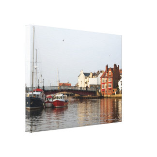 Whitby Harbor Wrapped Canvas Gallery Wrap Canvas
