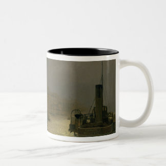 Whitby Harbour - Night, 1899 (oil on canvas) Two-Tone Coffee Mug
