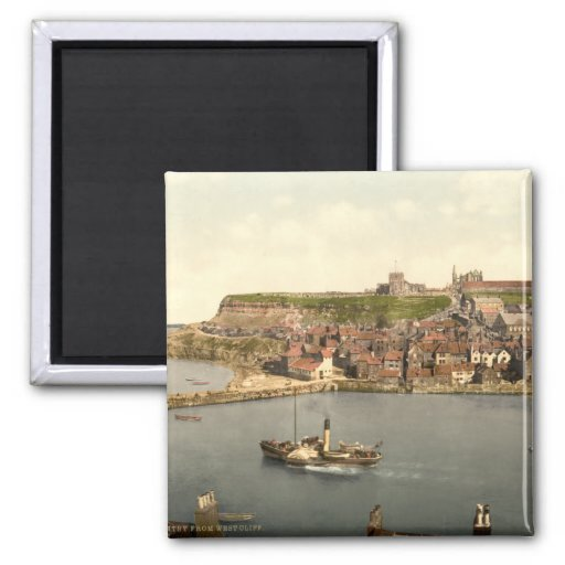 Whitby II, Yorkshire, England 2 Inch Square Magnet