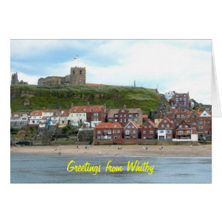 Whitby in North Yorkshire, England. Card