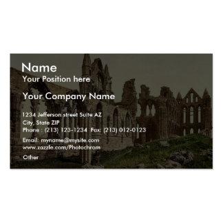 Whitby, la abadía, I., Yorkshire, Inglaterra Pho r Plantillas De Tarjeta De Negocio