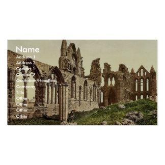 Whitby, la abadía, I., Yorkshire, Inglaterra Pho r Tarjetas De Visita