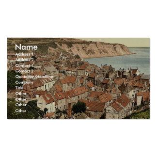 Whitby, la bahía de Robin Hood, Yorkshire, Inglate Plantilla De Tarjeta De Negocio