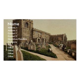 Whitby, la iglesia de St Mary, Yorkshire, Inglater Tarjeta De Visita
