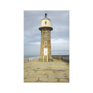 Whitby lighthouse gallery wrap canvas