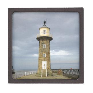 Whitby lighthouse keepsake box