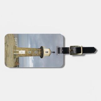 Whitby lighthouse luggage tag