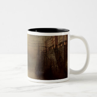Whitby (oil on canvas) Two-Tone coffee mug