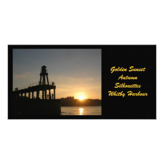 Whitby Sunset Photocard Photo Card