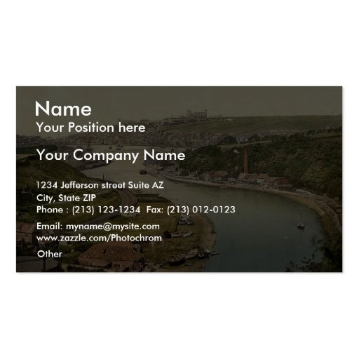 Whitby, view from Larpool, Yorkshire, England rare Business Card Templates