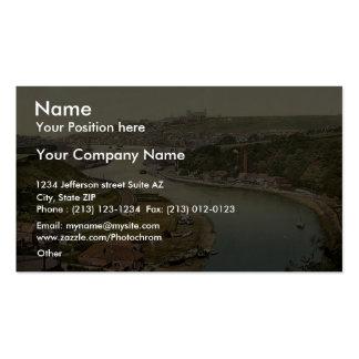 Whitby, visión desde Larpool, Yorkshire, Inglaterr Tarjeta De Visita