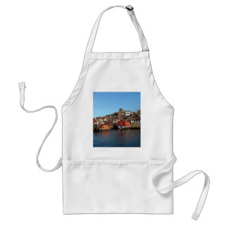 Whitby with old Lifeboat house Adult Apron