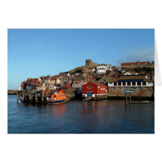 Whitby with old Lifeboat house Card