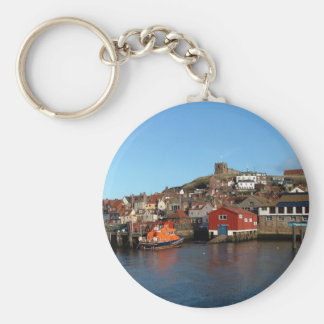 Whitby with old Lifeboat house Keychain