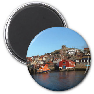 Whitby with old Lifeboat house Refrigerator Magnets