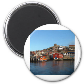 Whitby with old Lifeboat house Refrigerator Magnet