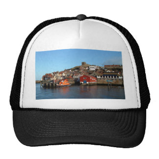 Whitby with old Lifeboat house Trucker Hat