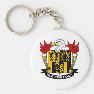 Whitcomb Family Crest Basic Round Button Keychain