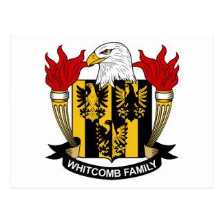Whitcomb Family Crest Postcard