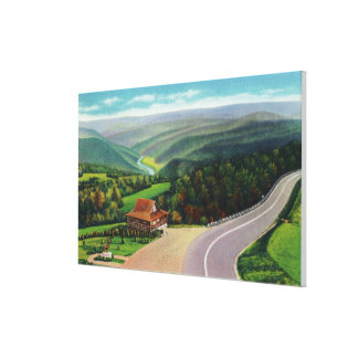 Whitcomb Summit of Deerfield River Valley Stretched Canvas Print