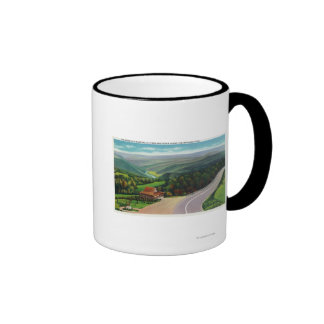 Whitcomb Summit of Deerfield River Valley Ringer Coffee Mug