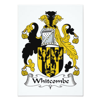 Whitcombe Family Crest Personalized Announcement