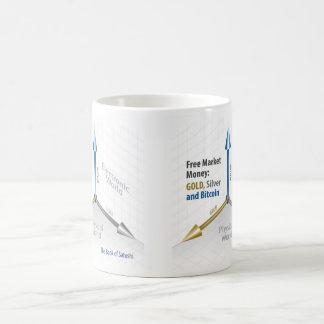 White 11 oz Classic White Mug Free Market Money