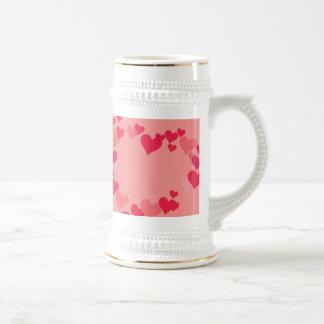 White 11 oz Classic White Mug Hearts
