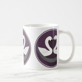 White 11 oz Classic White Mug LOVE SWANS