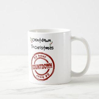 White 11 oz White Mug Countdown to Christmas