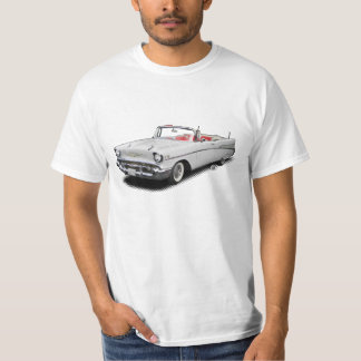 "White 1957 classic ""bel air"" convertible shirt"