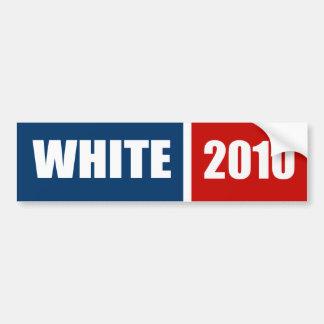 WHITE 2010 BUMPER STICKER
