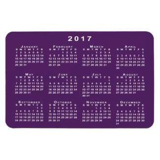 White 2017 Calendar, Purple Background Template