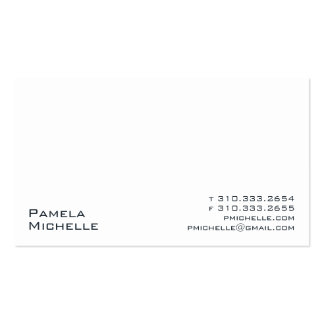 White #201 business card