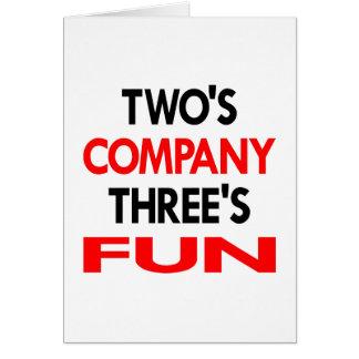 White 2 Company 3 Fun Card